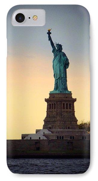 The Statue Of Liberty IPhone Case by Natasha Marco