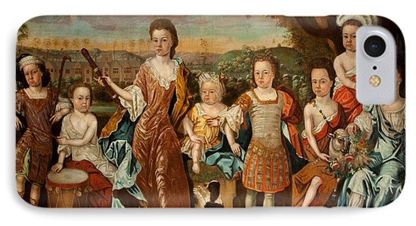 The Strachey Family, C.1710 Phone Case by English School