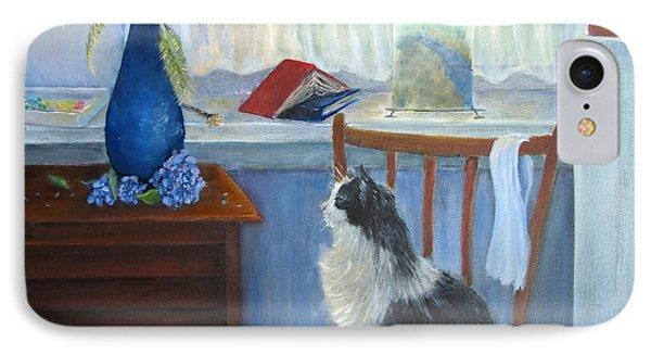 The Studio Cat Phone Case by Loretta Luglio