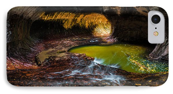 The Subway At Zion National Park - Pano Version IPhone Case by Larry Marshall
