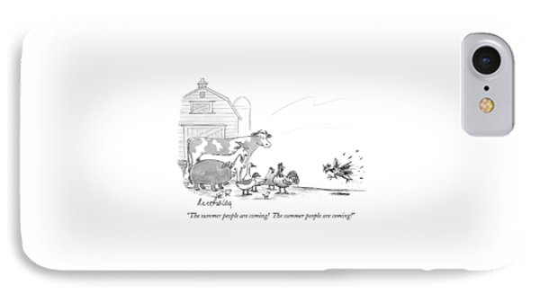 The Summer People Are Coming!  The Summer People IPhone Case