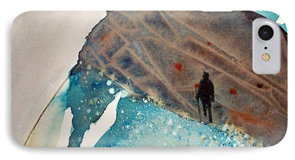 IPhone Case featuring the painting The Summit by Ed  Heaton