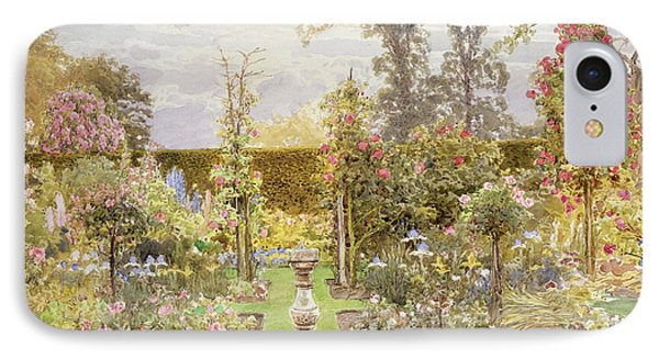 The Sun Dial In The Rose Garden IPhone Case by Thomas H Hunn