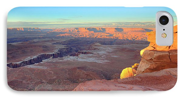 The Sun Sets On Canyonlands National Park In Utah Phone Case by Alan Vance Ley