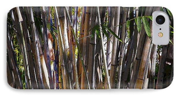 The Sun Through Bamboo IPhone Case by Sally Simon