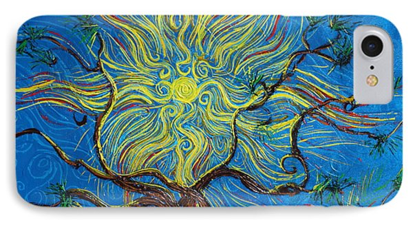 The Sun Tree Phone Case by Stefan Duncan
