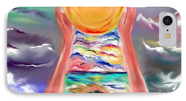 IPhone Case featuring the drawing The Sun Will Shine Again by Lori  Lovetere