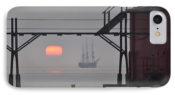 The Sunrises On A Tall Ship In Door County IPhone Case