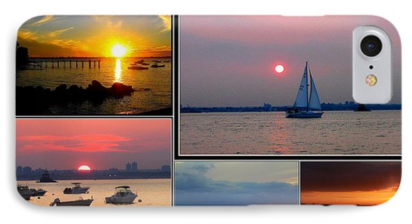The Sunsets Of Long Island Phone Case by Dora Sofia Caputo Photographic Art and Design