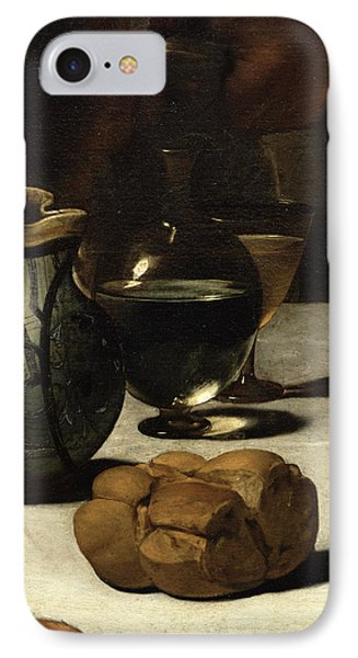 The Supper At Emmaus, 1601 Oil And Tempera On Canvas Detail Of 928 IPhone Case by Michelangelo Merisi da Caravaggio