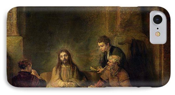 The Supper At Emmaus, 1648 Oil On Panel IPhone Case by Rembrandt Harmensz van Rijn
