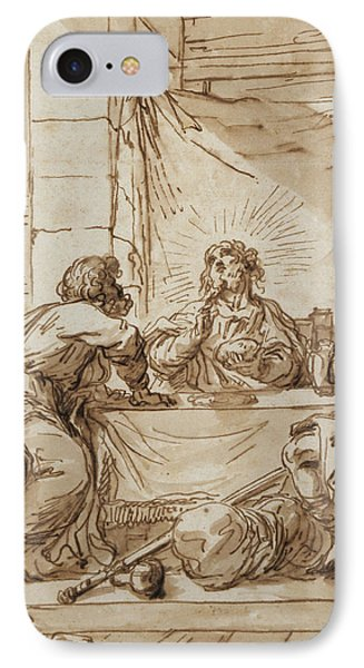 The Supper At Emmaus  IPhone Case by Guercino