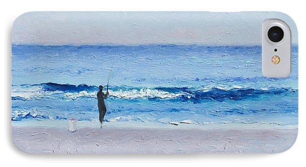 The Surf Fisherman IPhone Case by Jan Matson