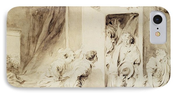 The Surprised Lover IPhone Case by Jean-Honore Fragonard