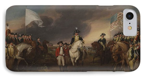 The Surrender Of Lord Cornwallis At Yorktown, October 19, 1781 IPhone Case by John Trumbull