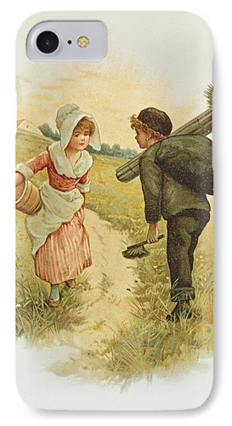 The Sweep And The Milkmaid Book Illustration IPhone Case by Anonymous
