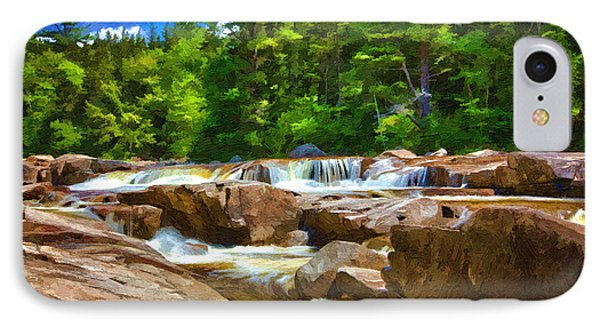 The Swift River Beside The Kancamagus Scenic Byway In New Hampshire IPhone Case by John Haldane