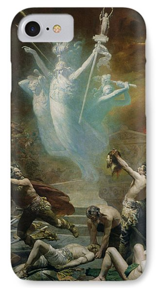 The Taking Of The Temple At Delphi By The Gauls, 1885 Oil On Canvas IPhone Case by Alphonse Cornet