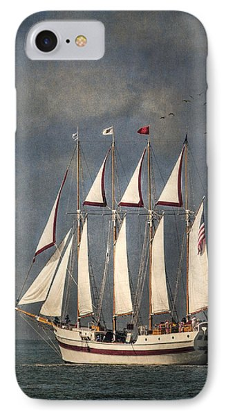 The Tall Ship Windy Phone Case by Dale Kincaid