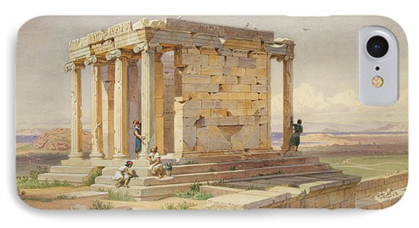 The Temple Of Athena Nike. View From The North-east IPhone Case by Carl Werner
