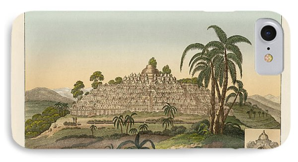 The Temple Of Buddha Of Borobudur In Java Phone Case by Splendid Art Prints