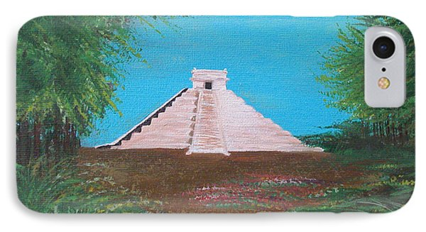 IPhone Case featuring the painting The Temple Of Kukulcan by Alys Caviness-Gober
