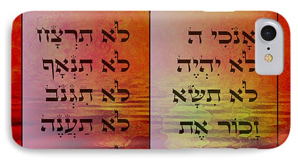 The Ten Commandments - Featured In Comfortable Art Group Phone Case by EricaMaxine  Price