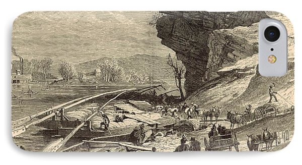 The Tennessee At Chattanooga 1872 Engraving Phone Case by Antique Engravings
