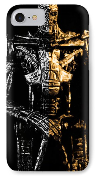 The Terminator Silver And Gold IPhone Case by Tommytechno Sweden