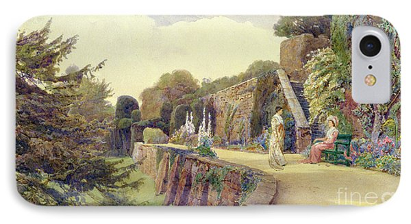The Terrace At Berkeley Castle IPhone Case by George Samuel Elgood