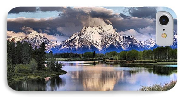 The Tetons From Oxbow Bend IPhone Case by Dan Sproul