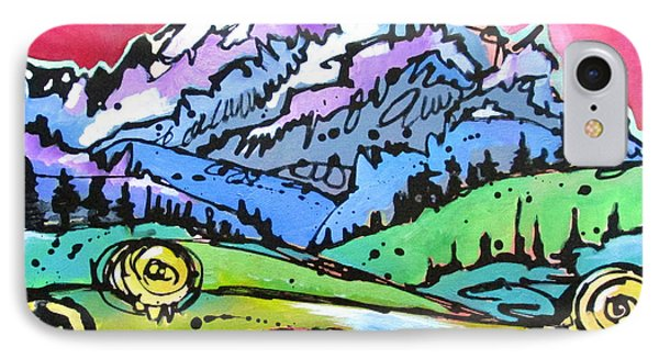 IPhone Case featuring the painting The Tetons From Walton Ranch by Nicole Gaitan