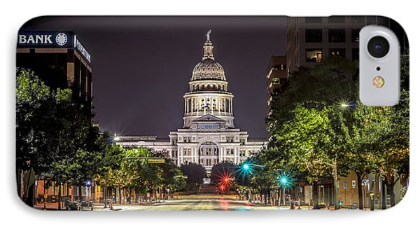 The Texas Capitol Building IPhone Case by David Morefield