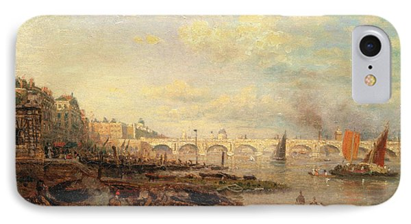 The Thames And Waterloo Bridge From Somerset House IPhone Case by Litz Collection