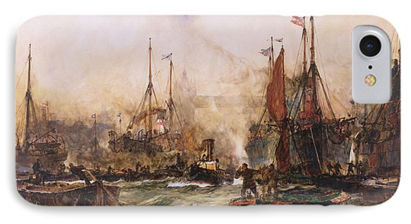 The Thames At Tower Bridge IPhone Case by Charles Edward Dixon