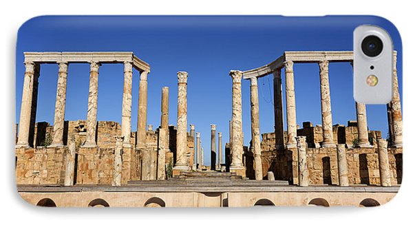 The Theatre At Leptis Magna In Libya IPhone Case by Robert Preston