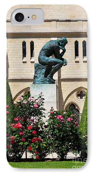 The Thinker By Auguste Rodin Phone Case by Louise Heusinkveld