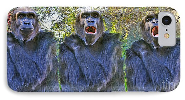 The Three Ape Tenors IPhone Case by Jim Fitzpatrick