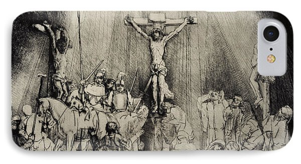 The Three Crosses IPhone Case by Rembrandt Harmensz van Rijn