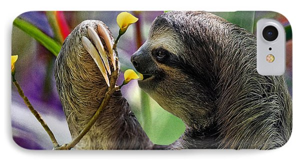 The Three-toed Sloth Phone Case by Gary Keesler