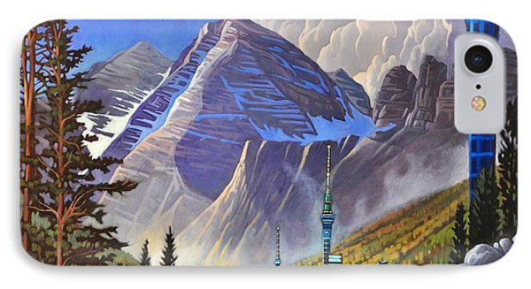 IPhone Case featuring the painting The Three Towers by Art James West