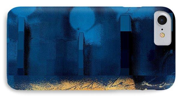 The Three Trees - J036076170-blue IPhone Case