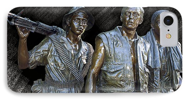 The Three Warriors Of Vietnam IPhone Case by Daniel Hagerman