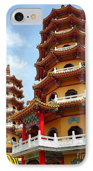 The Tiger And Dragon Pagodas In Taiwan IPhone Case