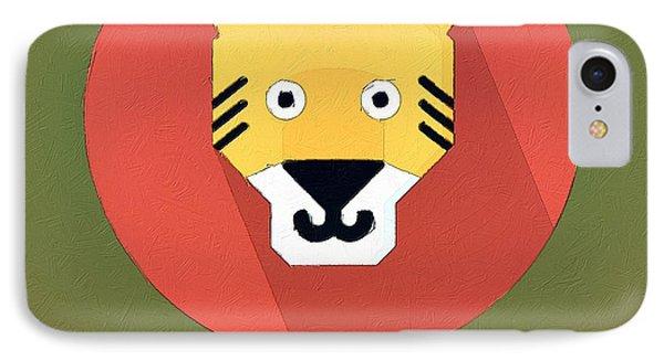 The Tiger Cute Portrait IPhone Case by Florian Rodarte