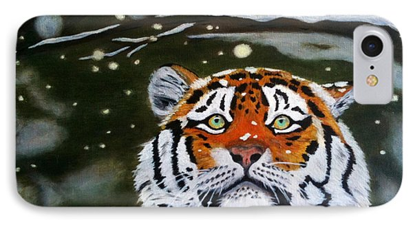 The Tiger In Winter IPhone Case