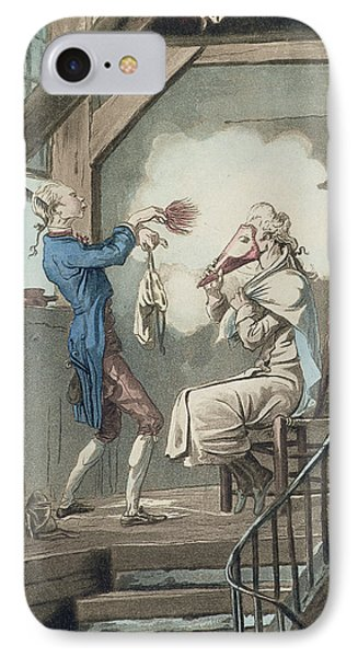 The Toilet Of An Attorneys Clerk IPhone Case by Antoine Charles Horace Vernet