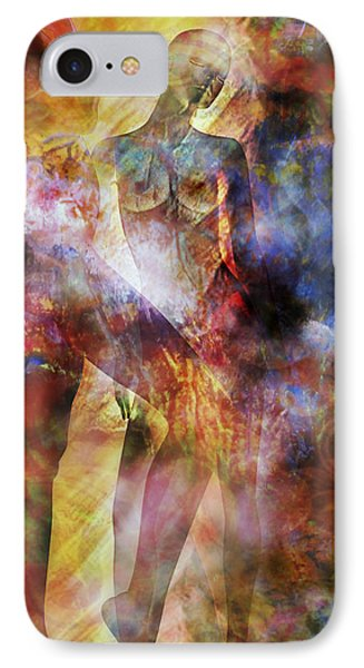 IPhone Case featuring the mixed media The Touch by Ally  White