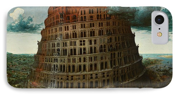 The Tower Of Babel IPhone Case by Celestial Images