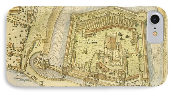 The Tower Of London, From A Survey Made Phone Case by English School
